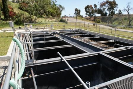 Photo 3-2. Extended Aeration Tanks with Secondary Clarifiers