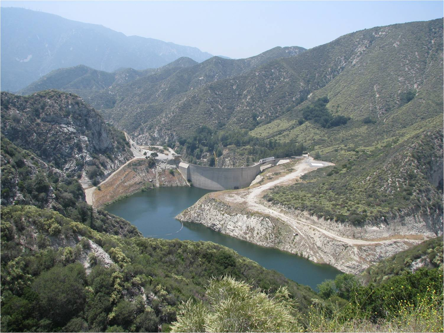 Big Tujunga Reservoir before the Station Fire