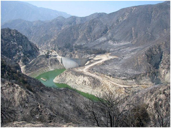 Big Tujunga Reservoir after the Station Fire
