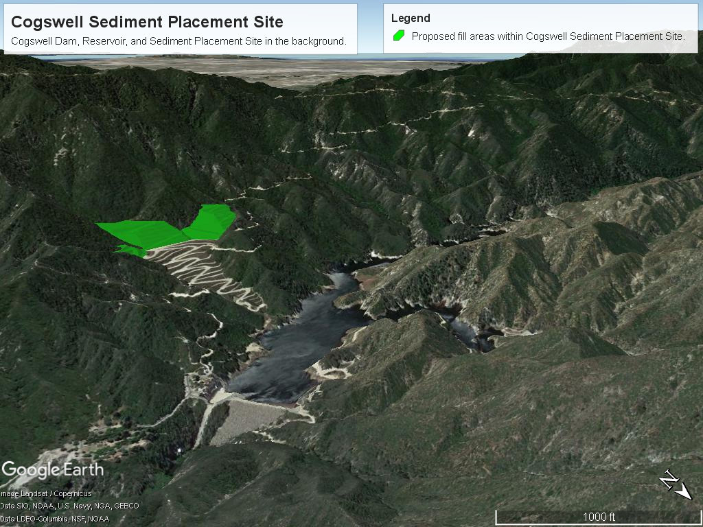 Cogswell Sediment Placement Site, Artistic Rendering