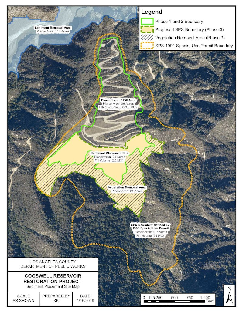 Cogswell Sediment Placement Site, Details